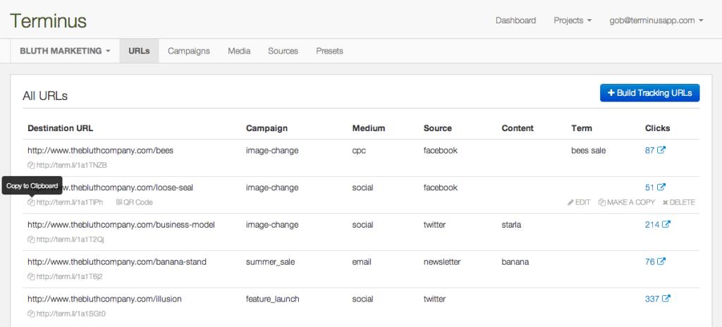 Terminus URL Builder