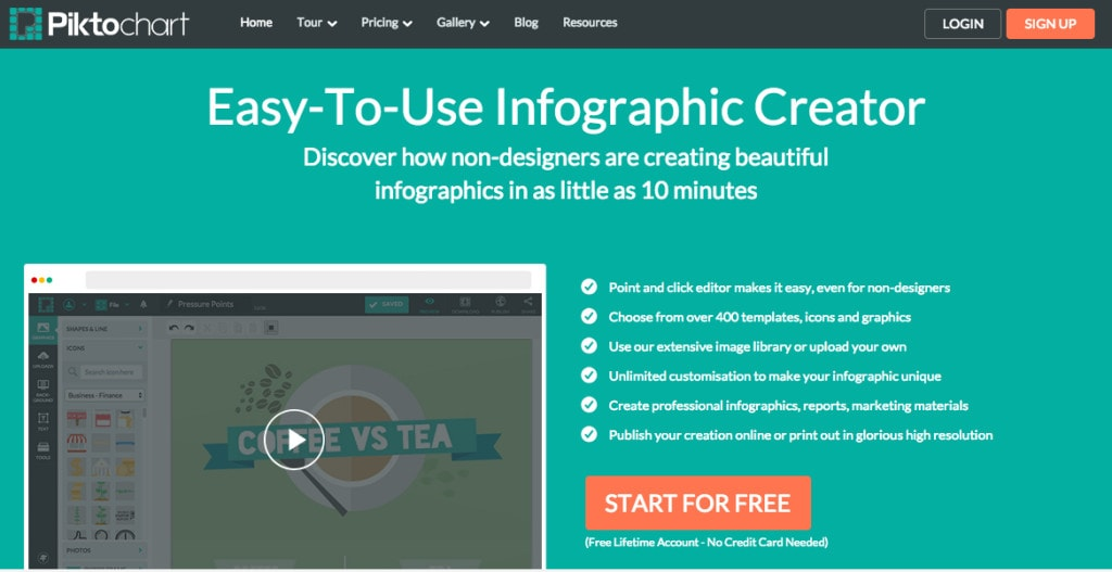 Piktochart: Create infographs to impress your clients