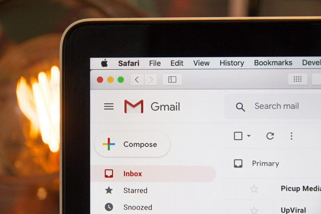 gmail icon on computer